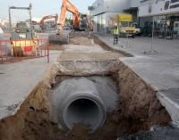Comienzan las obras de reforma del alcantarillado en la carretera hacia Villena