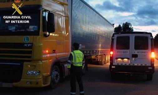 Detenido un conductor de camión que multiplicaba por ocho la tasa de alcohol