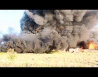 Un incendio arrasa las instalaciones de una fábrica de colchones