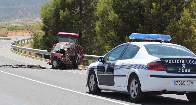 Una persona pierde la vida en un accidente de tráfico en la carretera de Yecla a Pinoso