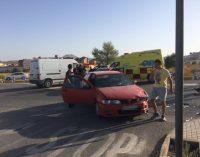 Dos conductoras resultan heridas en un accidente en la avenida de San Pablo