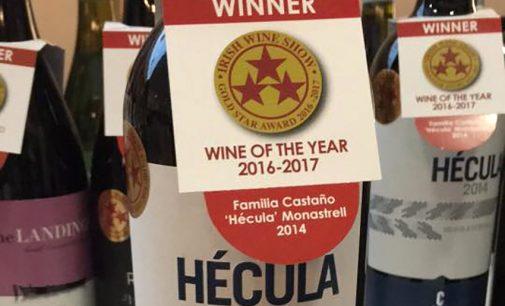 Hécula 2014, reconocido en Irlanda con la Gold Star al Mejor Vino del Año 2016