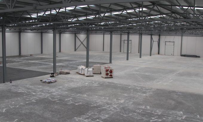 Interior de las instalaciones que se están construyendo en estos momentos.