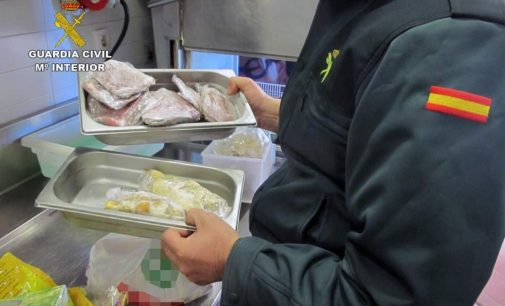 La Guardia Civil inmoviliza unos 500 kilos de alimentos en inspecciones a locales
