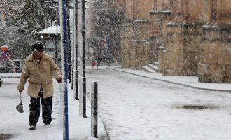Así fue el día de la nevada en Yecla