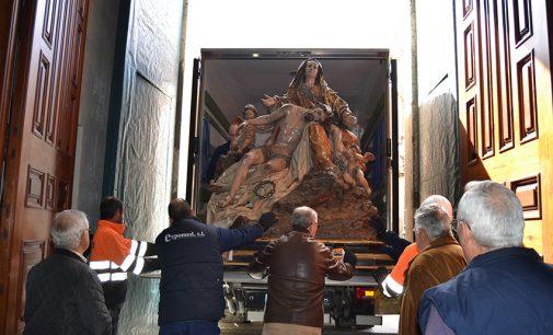 Ahora sí, la Virgen de las Angustias es trasladada hasta Caravaca