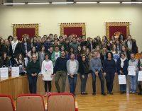 Recepción a alumnos franceses de intercambio en el Instituto Castillo-Puche
