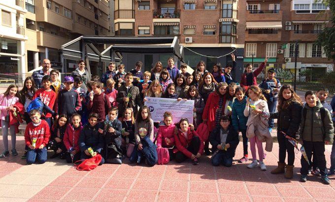 La delegación yeclana que se desplazó hasta Murcia.