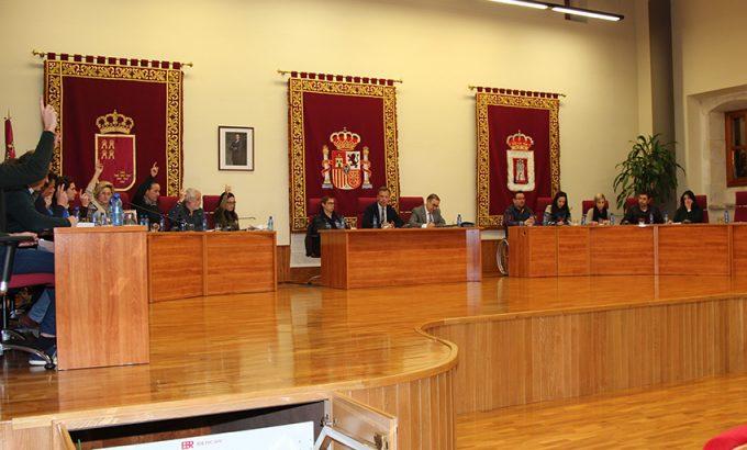Los concejales del PP votando a favor de la propuesta en defensa de PAS.