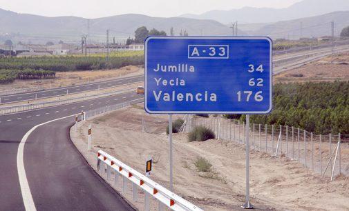 El PSOE pide que se señalice turísticamente todo el recorrido de la autovía A-33