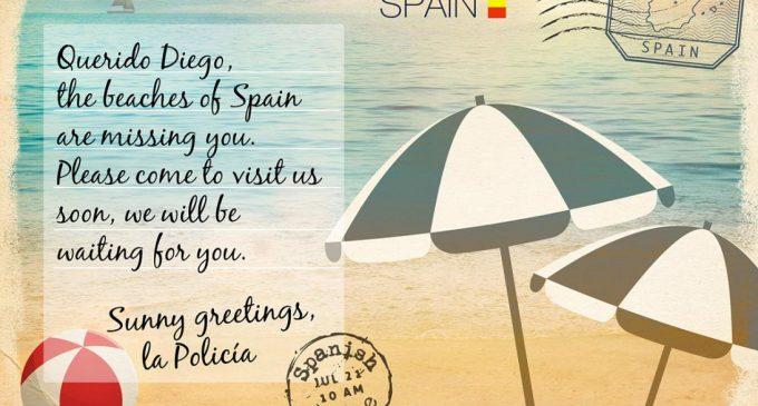 La Europol busca a un 'compinche' de Cásper a través de una postal