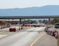 Obras en la carretera de Pinoso después de la inauguración de la A-33