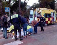 Una mujer herida tras ser atropellada en un paso de peatones