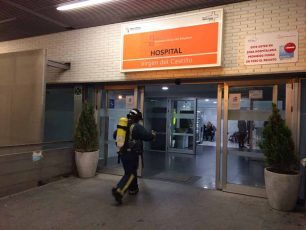incendio interior del hospital