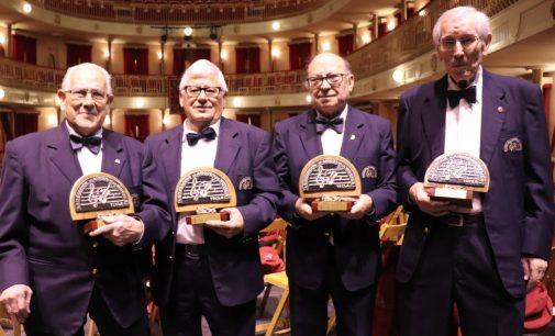 Cuatro veteranos músicos, homenajeados en Santa Cecilia
