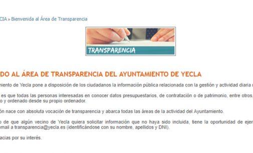 El Ayuntamiento de Yecla activa su portal de transparencia