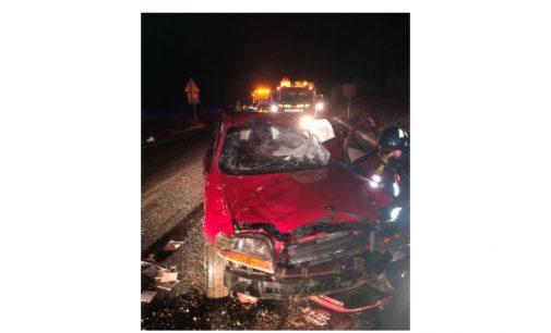Heridas una madre y dos hijas tras volcar con su coche en la N344