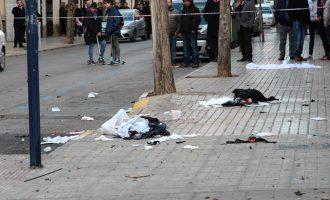 Un hombre herido grave tras explotar la bolsa de pirotecnia en el acto del Día del Clavario no